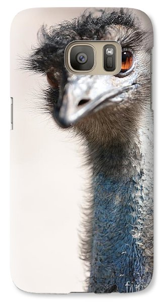 Curious Emu Galaxy S7 Case by Carol Groenen
