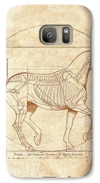 da Vinci Horse in Piaffe Galaxy S7 Case by Catherine Twomey