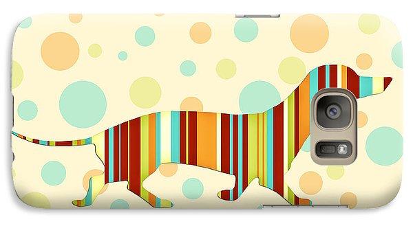 Dachshund Fun Colorful Abstract Galaxy S7 Case by Natalie Kinnear