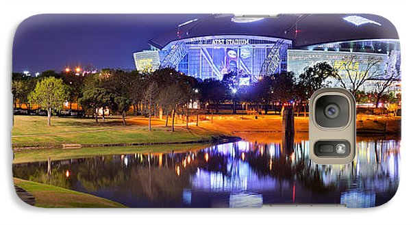 Dallas Cowboys Stadium At Night Att Arlington Texas Panoramic Photo Galaxy S7 Case by Jon Holiday