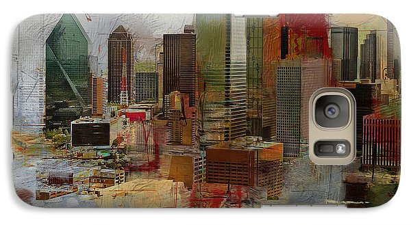 Dallas Skyline 003 Galaxy S7 Case by Corporate Art Task Force