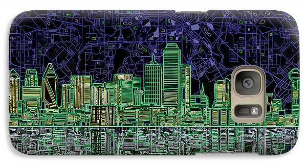 Dallas Skyline Abstract 4 Galaxy S7 Case by Bekim Art