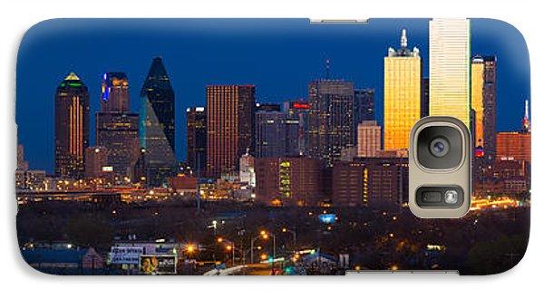 Dallas Skyline Panorama Galaxy S7 Case by Inge Johnsson