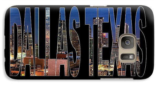 Dallas Texas Skyline Galaxy Case by Marvin Blaine