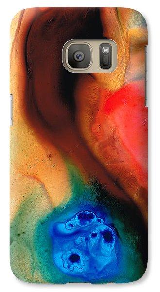 Dark Swan - Abstract Art By Sharon Cummings Galaxy S7 Case by Sharon Cummings