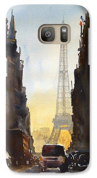Dawn In Paris Galaxy Case by James Nyika