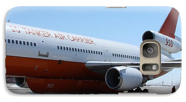 Galaxy Case featuring the photograph Dc-10 Air Tanker At Rapid City by Bill Gabbert