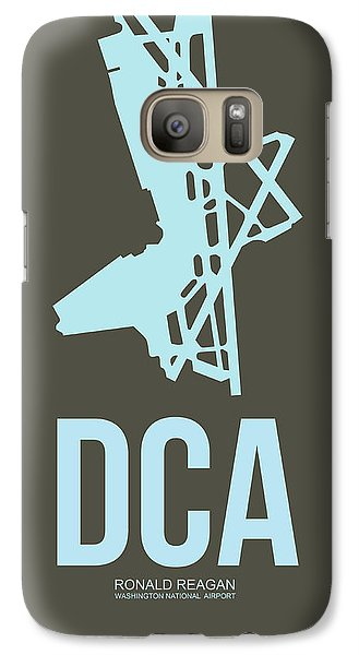 Dca Washington Airport Poster 1 Galaxy S7 Case by Naxart Studio