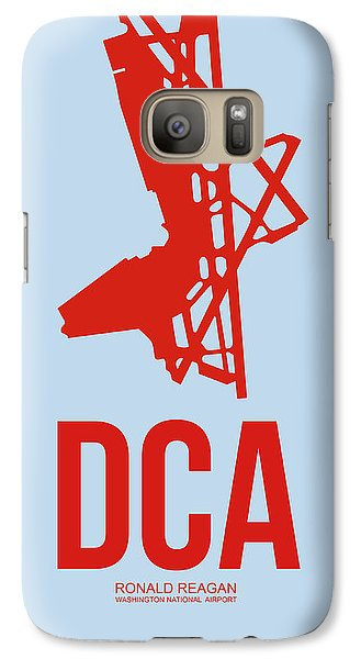 Dca Washington Airport Poster 2 Galaxy S7 Case by Naxart Studio