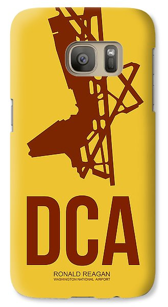 Dca Washington Airport Poster 3 Galaxy S7 Case by Naxart Studio