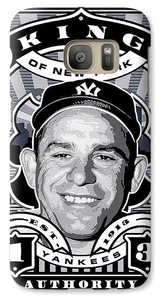 Dcla Yogi Berra Kings Of New York Stamp Artwork Galaxy Case by David Cook Los Angeles