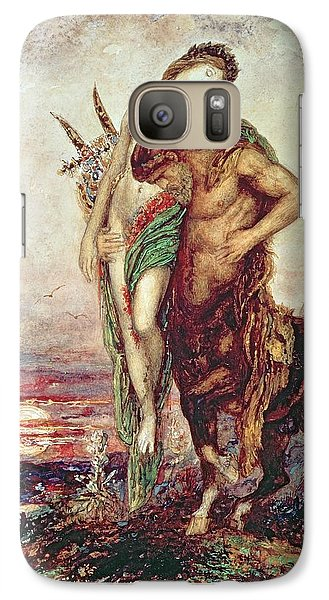 Dead Poet Borne By Centaur Galaxy S7 Case by Gustave Moreau