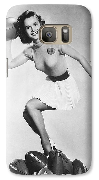 Debbie Reynolds Throws A Pass Galaxy Case by Underwood Archives