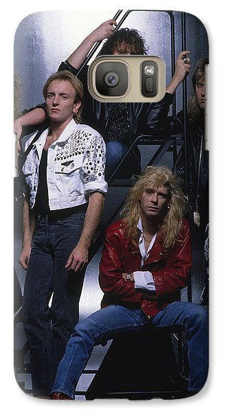 Def Leppard - Group Stairs 1987 Galaxy Case by Epic Rights