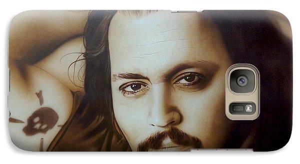 Johnny Depp - ' Depp II ' Galaxy Case by Christian Chapman Art