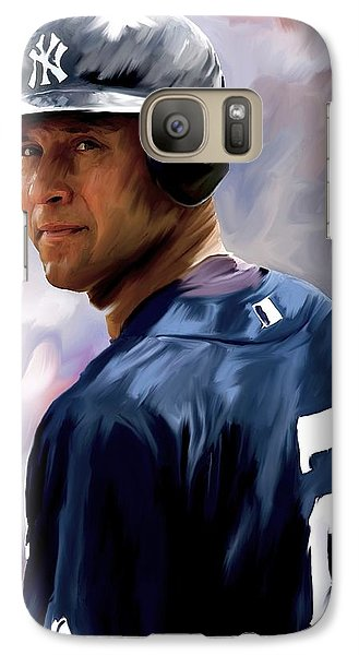 Derek Jeter  Galaxy S7 Case by Iconic Images Art Gallery David Pucciarelli