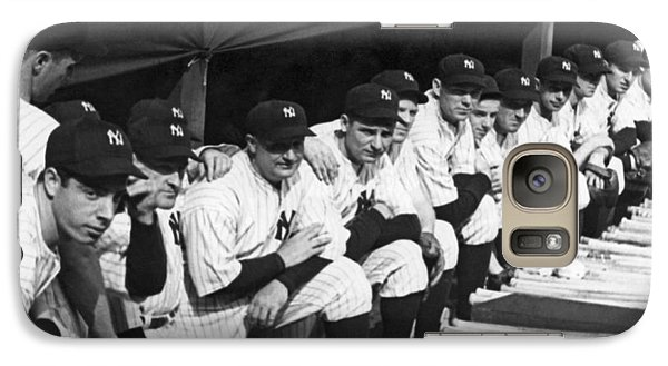Dimaggio In Yankee Dugout Galaxy S7 Case by Underwood Archives