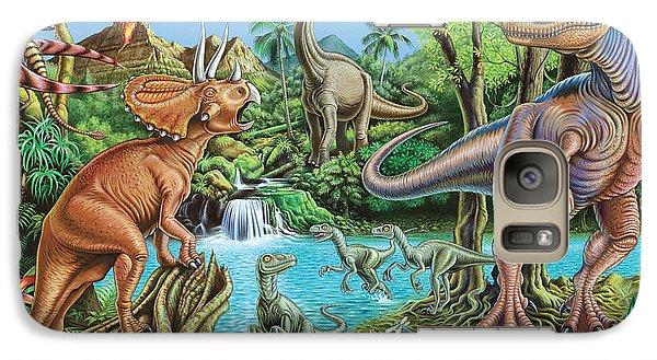 Dinosaur Waterfall Galaxy Case by Mark Gregory