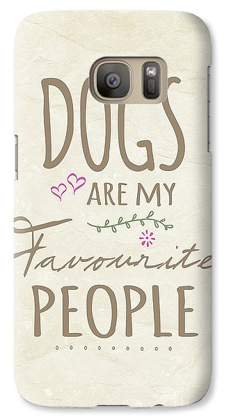 Dogs Are My Favourite People  - British Version Galaxy Case by Natalie Kinnear