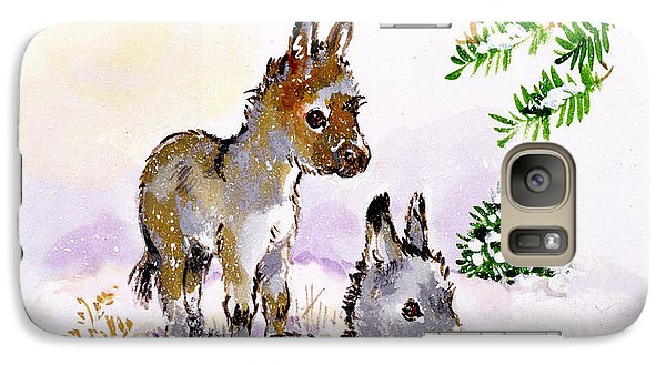 Donkeys Galaxy Case by Diane Matthes