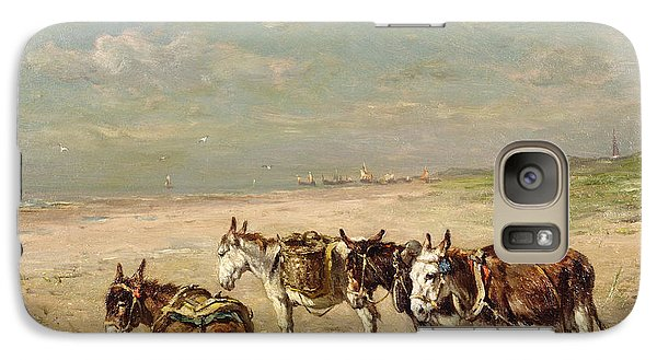 Donkeys On The Beach Galaxy S7 Case by Johannes Hubertus Leonardus de Haas