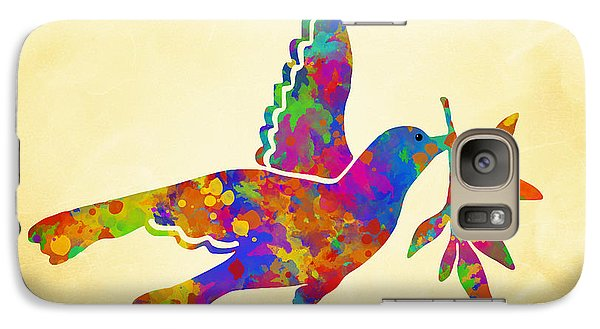 Dove With Olive Branch Galaxy S7 Case by Christina Rollo