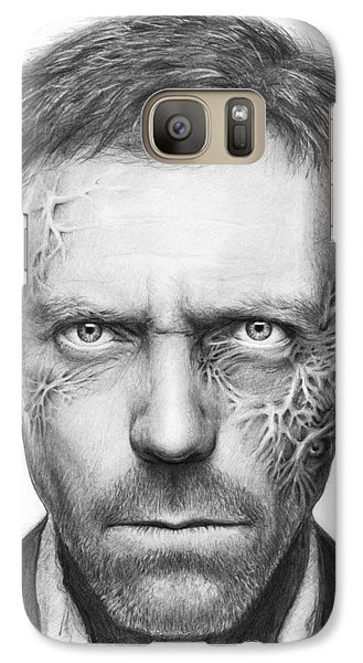 Dr. Gregory House - House Md Galaxy Case by Olga Shvartsur