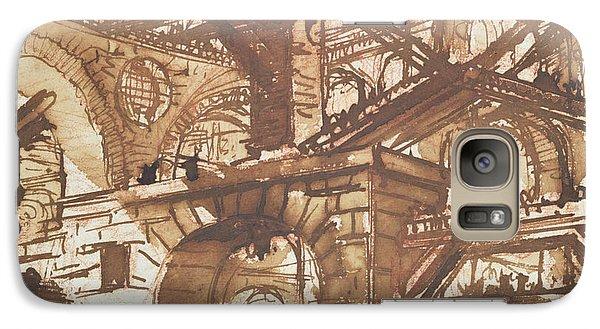 Drawing Of An Imaginary Prison Galaxy S7 Case by Giovanni Battista Piranesi