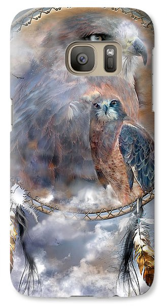 Dream Catcher - Hawk Spirit Galaxy Case by Carol Cavalaris