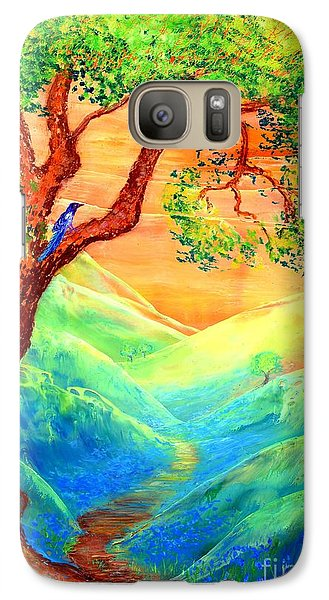 Dreaming Of Bluebells Galaxy S7 Case by Jane Small