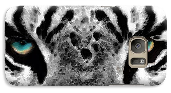 Dressed To Kill - White Tiger Art By Sharon Cummings Galaxy S7 Case by Sharon Cummings