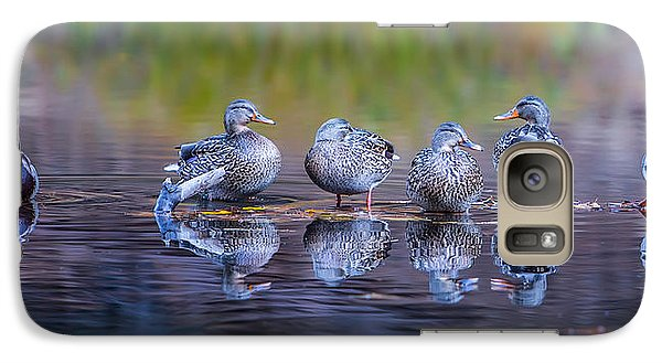Ducks In A Row Galaxy Case by Larry Marshall