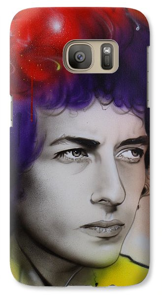 Bob Dylan - ' Dylan ' Galaxy S7 Case by Christian Chapman Art