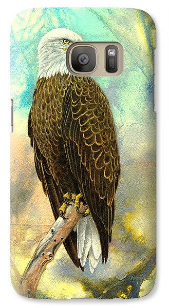 Eagle In Abstract Galaxy S7 Case by Paul Krapf