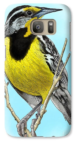 Eastern Meadowlark Galaxy Case by Roger Hall