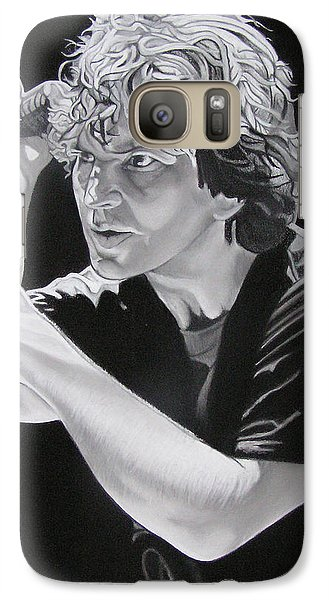 Eddie Vedder Black And White Galaxy Case by Joshua Morton