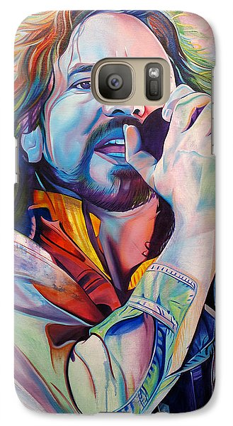Eddie Vedder In Pink And Blue Galaxy Case by Joshua Morton