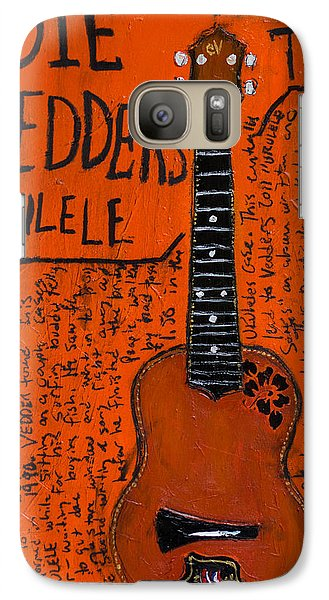 Eddie Vedder Ukulele Galaxy Case by Karl Haglund