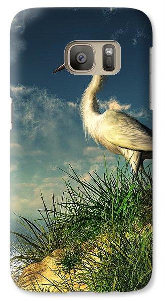 Egret In The Dunes Galaxy S7 Case by Daniel Eskridge