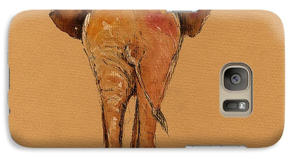 Elephant Back Galaxy Case by Juan  Bosco