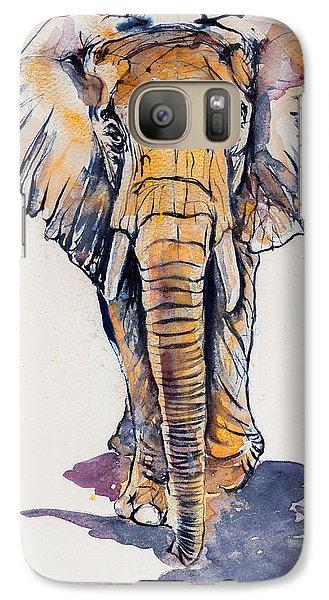 Elephant In Gold Galaxy S7 Case by Kovacs Anna Brigitta