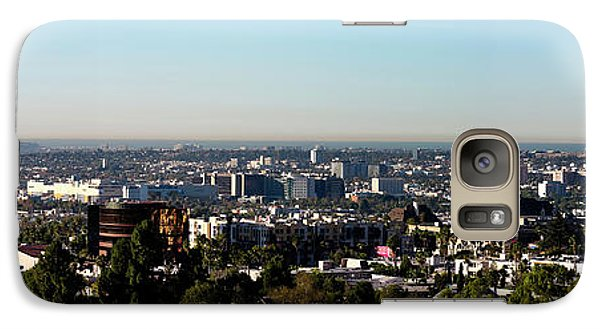 Elevated View Of City, Los Angeles Galaxy S7 Case by Panoramic Images