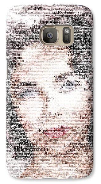 Elizabeth Taylor Typo Galaxy S7 Case by Taylan Soyturk