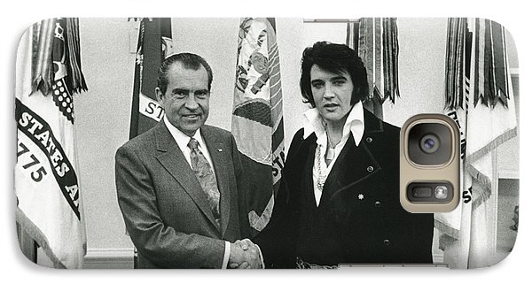 Elvis And Nixon Galaxy S7 Case by Unknown