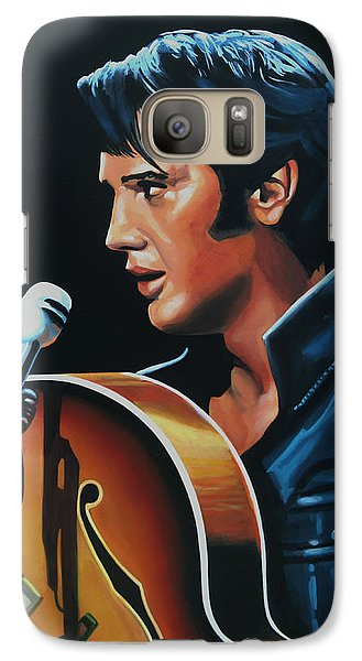 Elvis Presley 3 Painting Galaxy S7 Case by Paul Meijering