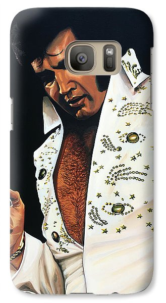 Elvis Presley Painting Galaxy S7 Case by Paul Meijering