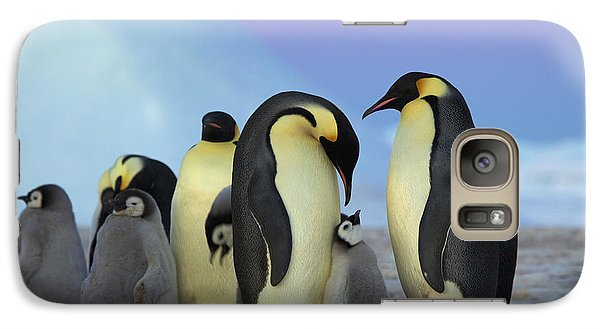 Emperor Penguin Parents And Chick Galaxy Case by Frederique Olivier