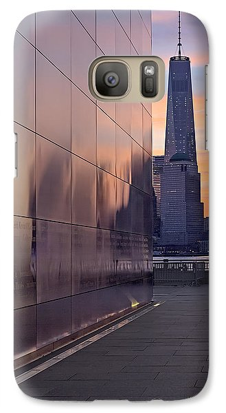 Empty Sky Memorial And Freedom Tower Sunrise Galaxy Case by Susan Candelario