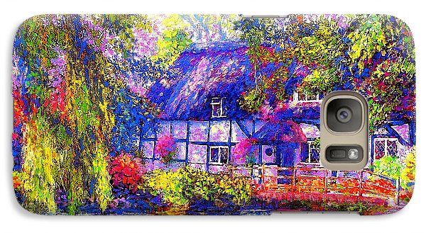 English Cottage Galaxy Case by Jane Small
