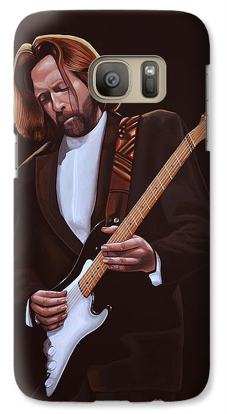 Eric Clapton Painting Galaxy S7 Case by Paul Meijering
